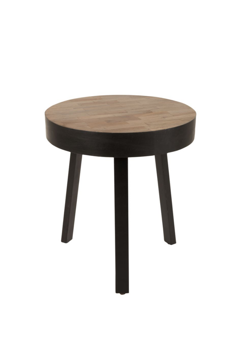 Round Teak End Table | DF Suri | DutchFurniture.com