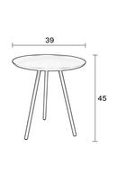 White Tripod Side Table | DF Frost | DutchFurniture.com
