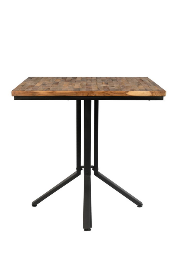 Square Natural Teak Counter Table | DF Maze | Dutchfurniture.com