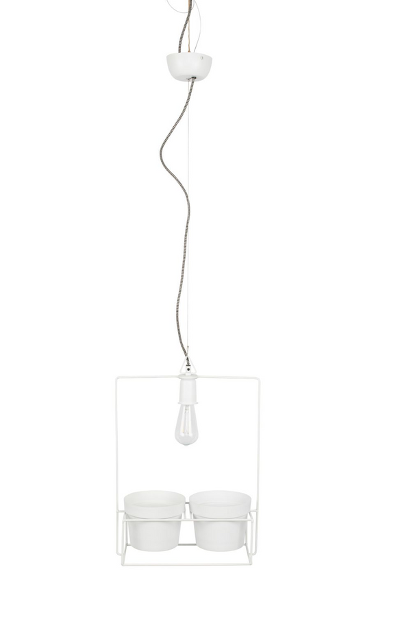 White Frame & Pots Pendant Lamp | DF Bart | Dutchfurniture.com