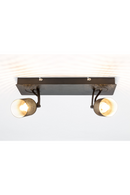 Black Mesh 2-Spotlight Ceiling Lamp | DF Sandy | DutchFurniture.com