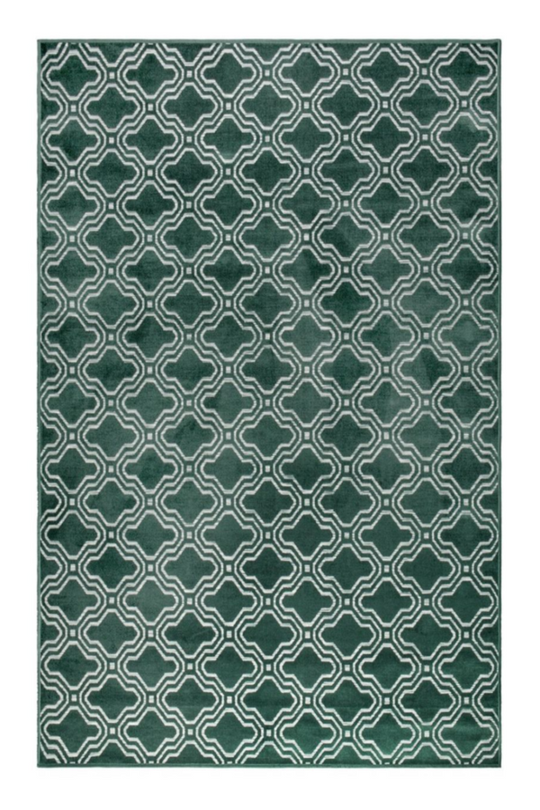 Green Pattern Area Rug 5' x 7'5"