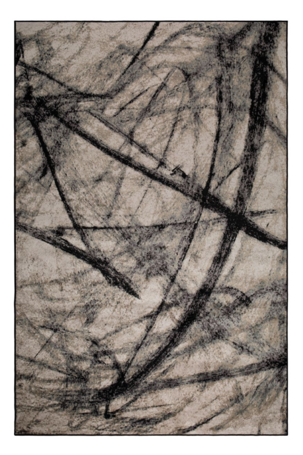 "Brown Contemporary Area Rug 5'5"" x 8' 