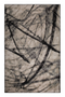 "Brown Contemporary Area Rug 6'5"" x 10' 