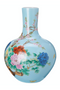 Blue Handpainted Ball Body Vase | Pols Potten | DutchFurniture.com