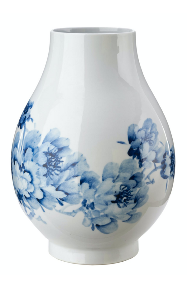 Blue Porcelain Vase | Pols Potten Peony | DutchFurniture.com