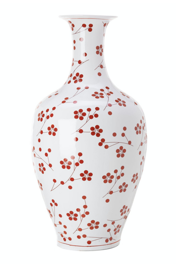 Red Dot Porcelain Vase | Pols Potten Japanese | DutchFurniture.com