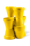 Yellow Pot Planter Set | Pols Potten Volcano X | DutchFurniture.com