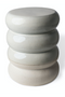 White Glazed Accent Stools (2) | Pols Potten Chubby | Dutchfurniture.com