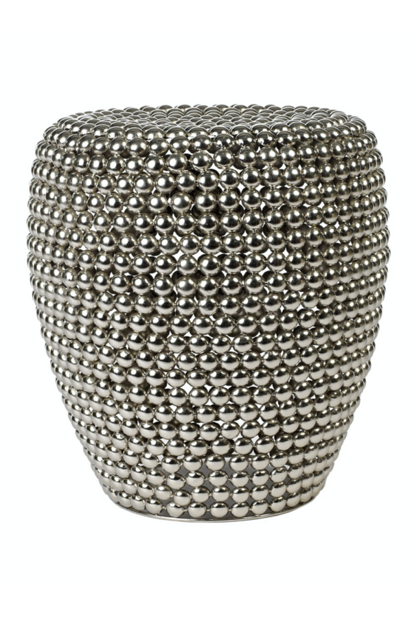 Silver Accent Stool | Pols Potten Dot | DutchFurniture.com