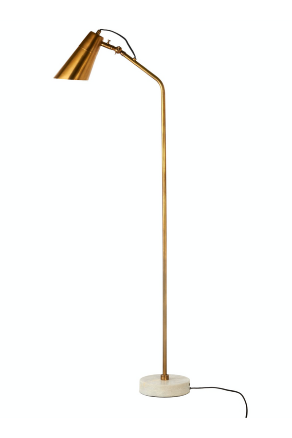 Brass Marble Base Floor Lamp | Pols Potten Disk | DutchFurniture.com