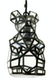 Antique Plated Pendant Lamp | Pols Potten Bunny Faceted | DutchFurniture.com