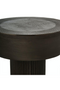 Graphite Plated Aluminium Stool | Pols Potten Nut | DutchFurniture.com