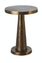 Round Antique Brass Side Table | Pols Potten Toot Low | DutchFurniture.com