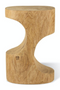 Hand Carved Wooden Stool | Pols Potten Double Arch | DutchFurniture.com