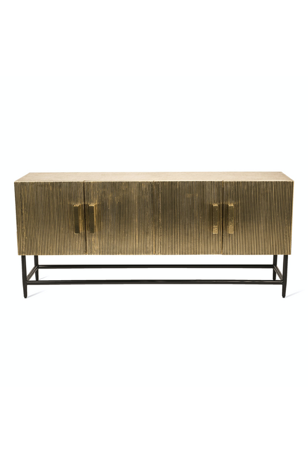 Brass Metal Sideboard | Pols Potten Ribbel Low | DutchFurniture.com