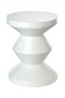 White Lacquered Accent Stool | Pols Potten Zig Zag | DutchFurniture.com
