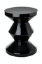 Black Lacquered Accent Stool | Pols Potten Zig Zag | DutchFurniture.com