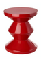 Red Lacquered Accent Stool | Pols Potten Zig Zag | DutchFurniture.com