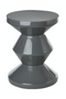 Gray Lacquered Accent Stool | Pols Potten Zig Zag | DutchFurniture.com