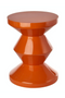 Orange Lacquered Accent Stool | Pols Potten Zig Zag | DutchFurniture.com
