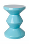 Blue Lacquered Accent Stool | Pols Potten Zig Zag | DutchFurniture.com