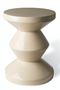 Beige Lacquered Accent Stool | Pols Potten Zig Zag | Dutchfurniture.com