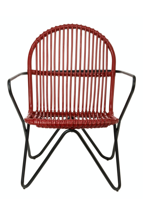 Red Rattan Accent Chair | Pols Potten Timor | DutchFurniture.com