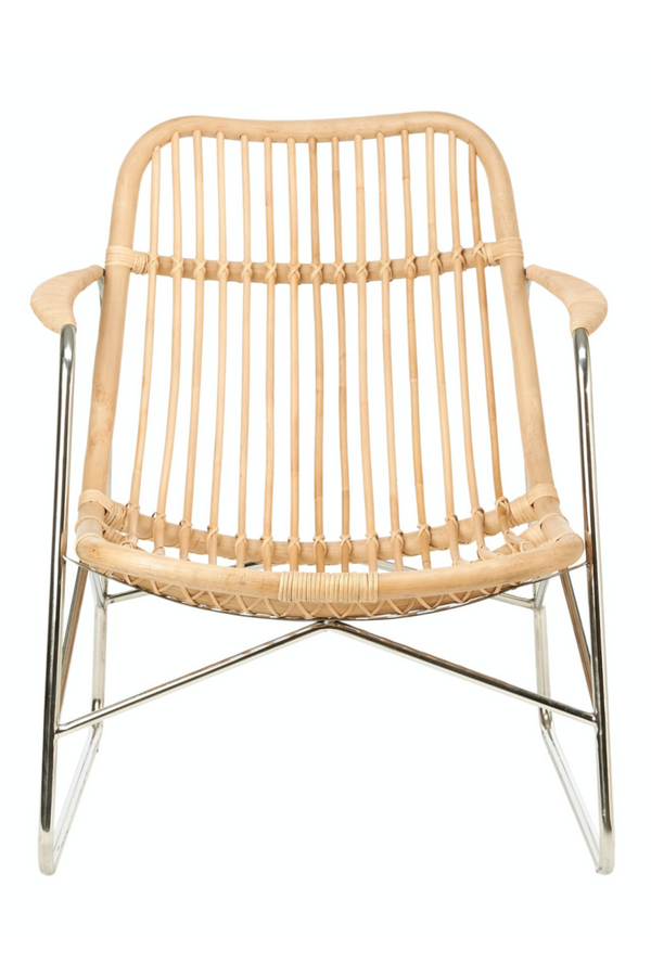 Rattan Nickel Framed Accent Chair | Pols Potten Floris | DutchFurniture.com