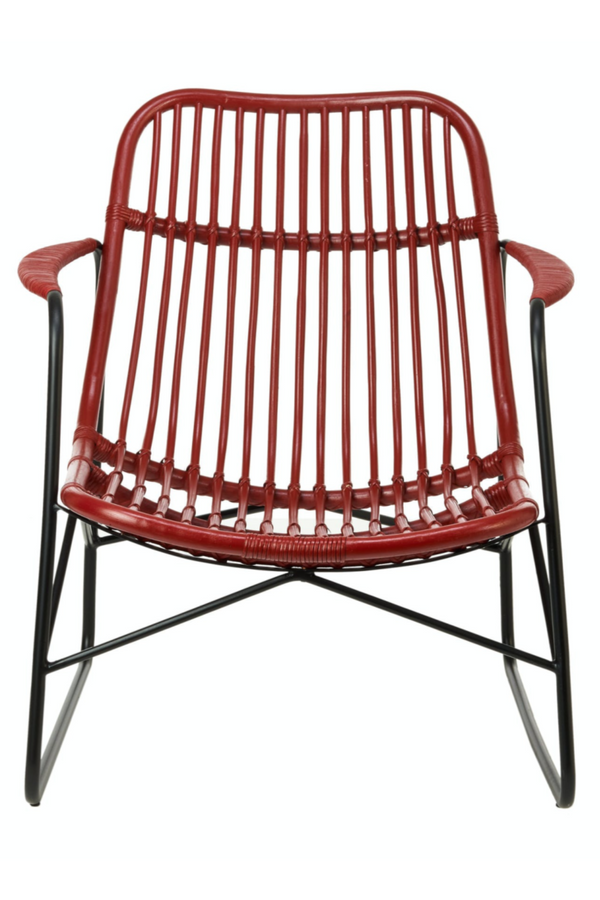 Red Rattan Accent Chair | Pols Potten Floris | DutchFurniture.com