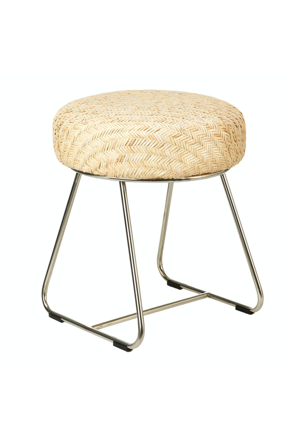 Rattan Round Stool | Pols Potten Ceram | DutchFurniture.com