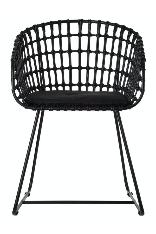 All Black Rattan Accent Chair | Pols Potten  | DutchFurniture.com