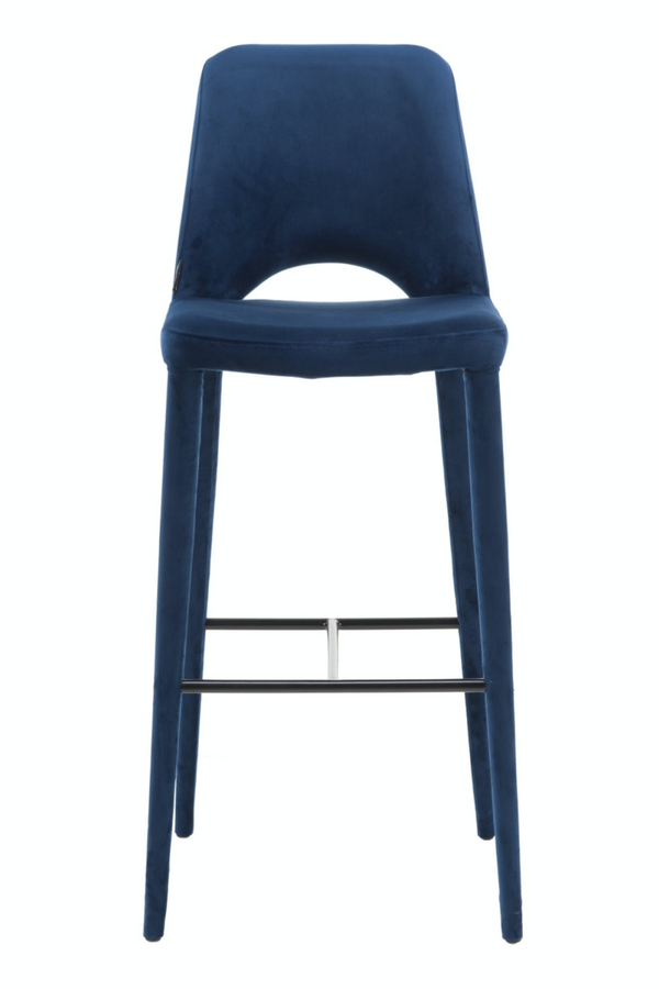 Blue Velvet Barstool | Pols Potten Holy | DutchFurniture.com