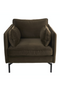 Brown Velvet Accent Chair | Pols Potten Fauteuil | DutchFurniture.com