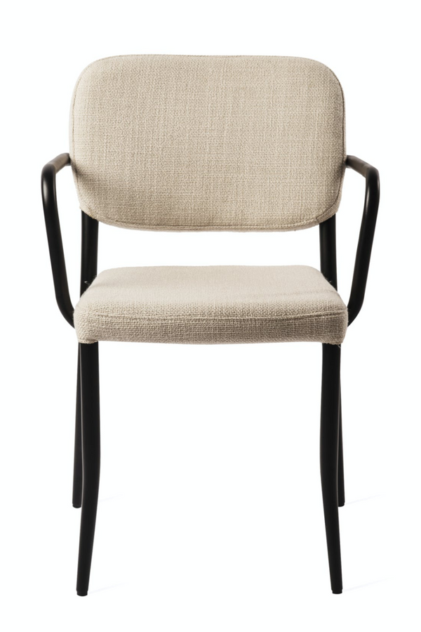 Beige Upholstered Arm Chair | Pols Potten Jamie | DutchFurniture.com
