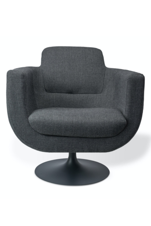 Gray Upholstered Swivel Chair | Pols Potten Kirk | DutchFurniture.com