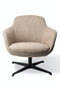 Beige Swivel Base Accent Chair | Pols Potten Spock | DutchFurniture.com