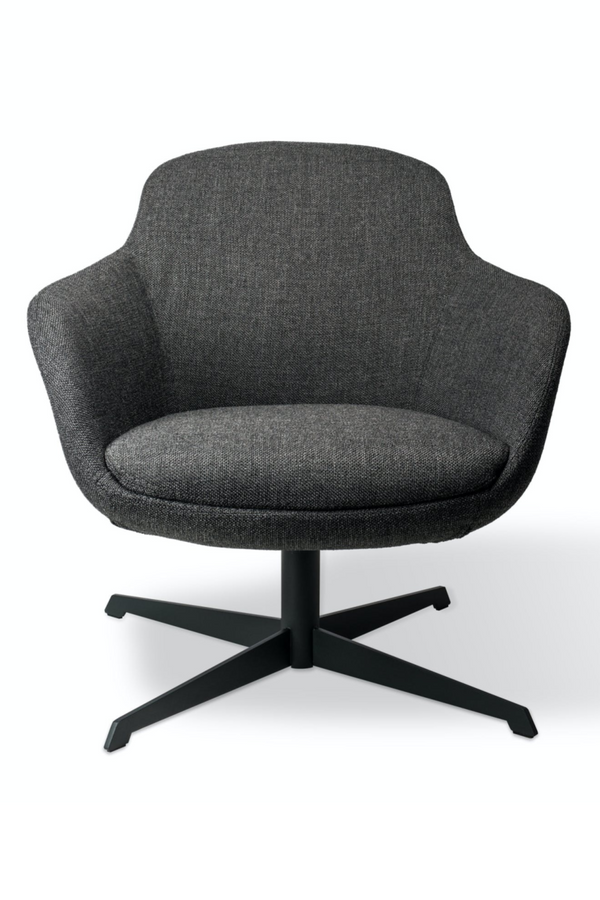 Gray Swivel Base Accent Chair | Pols Potten Spock | DutchFurniture.com