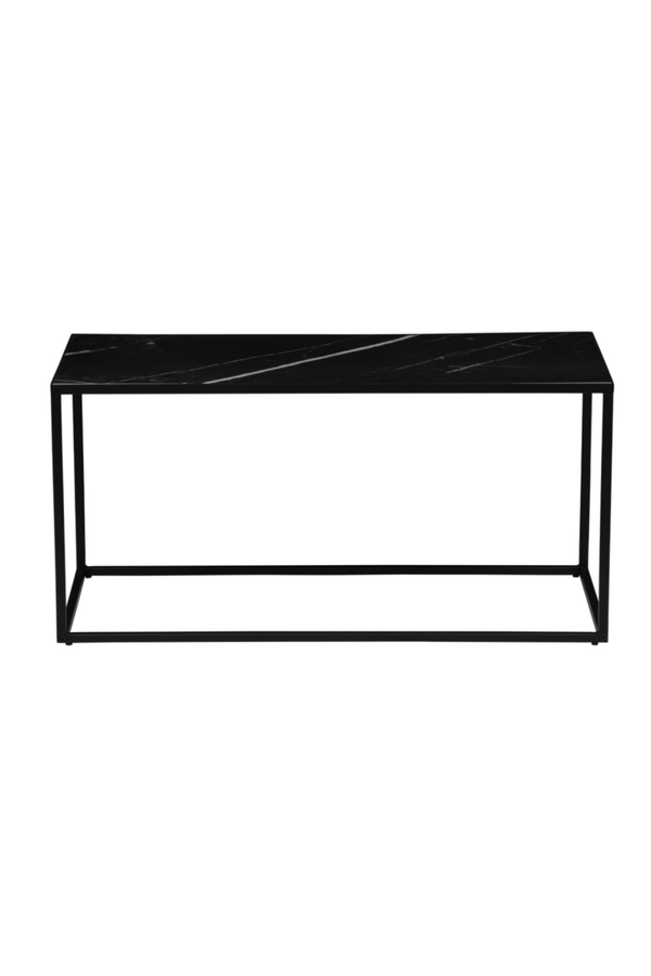 Black Marble Coffee Table L | vtwonen Side | DutchFurniture.com