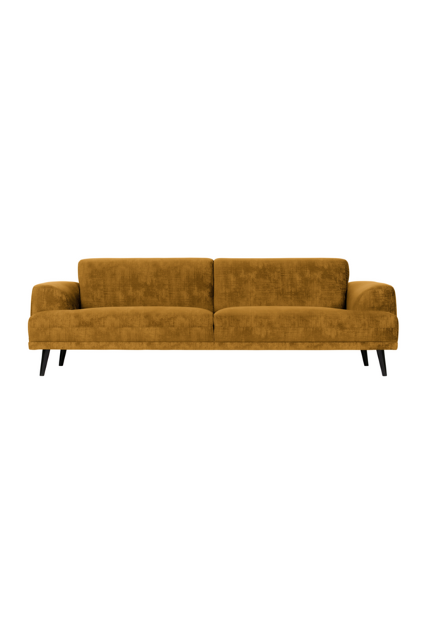 Amber Velvet 3-Seater Sofa | vtwonen Brushv | DutchFurniture.com