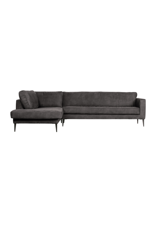 Dark Gray Left Corner Sofa | vtwonen Crew | DutchFurniture.com