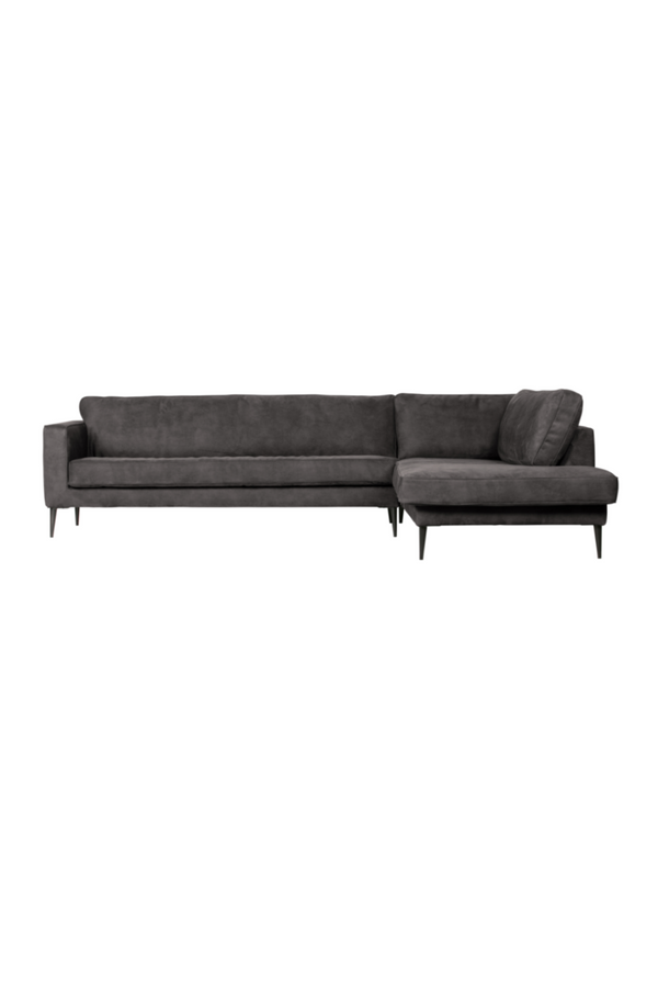 Dark Gray Right Corner Sofa | vtwonen Crew | DutchFurniture.com