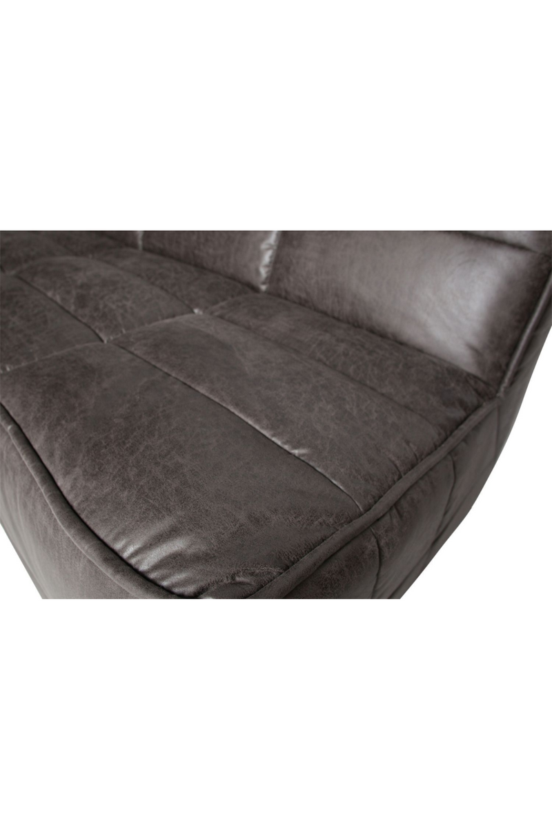 Dark Gray Leather 3-Seater Sofa | vtwonen Cluster | DutchFurniture.com