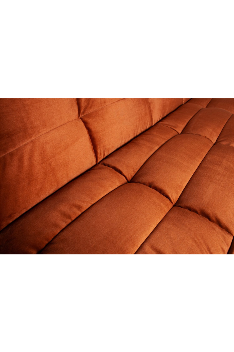 Rust Velvet 3-Seater Sofa | vtwonen Cluster | DutchFurniture.com