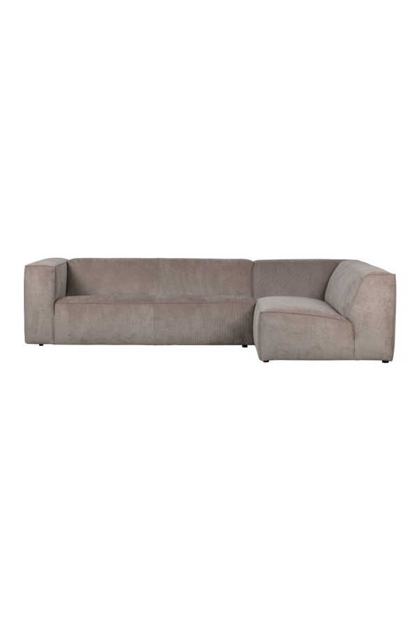 Khaki Right Corner Sofa | vtwonen Lazy | DutchFurniture.com