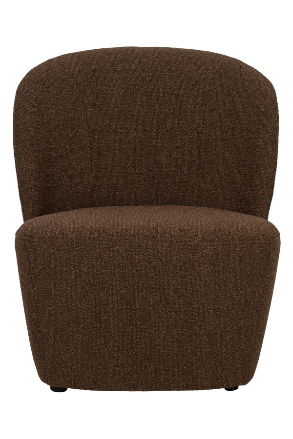 Brown Rounded Armchair | Vtwonen Lofty | DutchFurniture.com