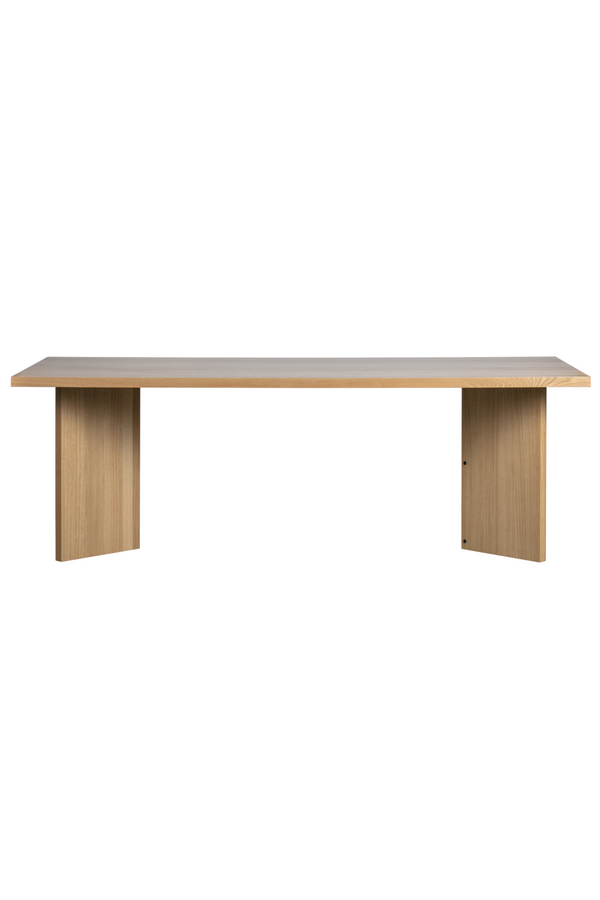 Oak Rectangular Dining Table | Vtwonen Angle