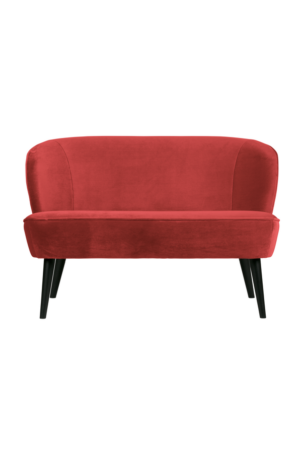 Raspberry Velvet Upholstered Sofa | Woood Sara | DutchFurniture.com
