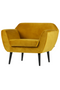 Amber Velvet Upholstered Accent Armchair | Woood Rocco | Dutchfurniture.com