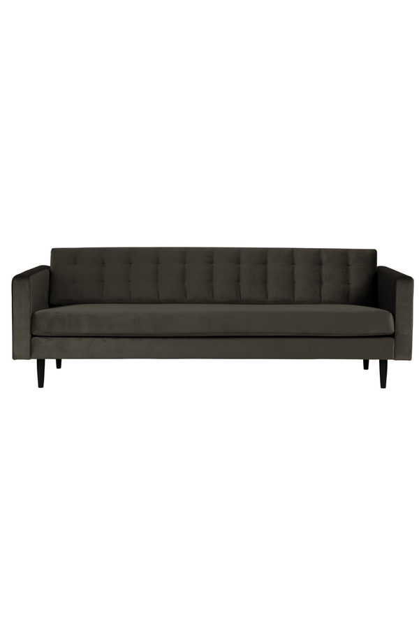 Green Velvet 3-Seater Sofa | Woood Livia | Dutchfurniture.com